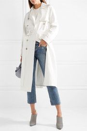 Azeglio double-breasted linen trench coat