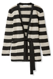 Max Mara Alea striped linen cardigan