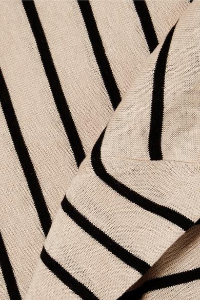 Max Mara Alghero gestreifter Pullover aus einer Seiden-Leinenmischung