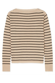 Max Mara Alghero striped silk and linen-blend sweater