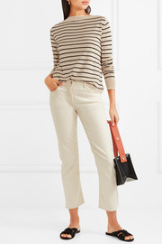 Alghero striped silk and linen-blend sweater