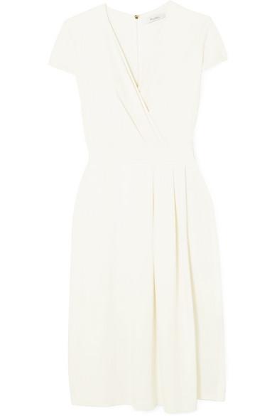 Max Mara Kleid aus Stretch-Crêpe mit Wickeleffekt