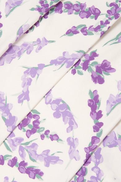 Max Mara Baumwollkleid mit floralem Print