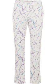 Max Mara Floral-print cotton-blend twill straight-leg pants
