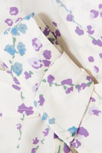 Max Mara Oberteil aus Baumwollpopeline mit Blumenprint