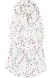 Max Mara Floral-print cotton-poplin top