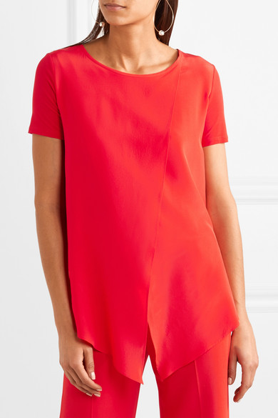 Top Multi-couches Max Mara En Georgette De Soie Et Jersey Stretch