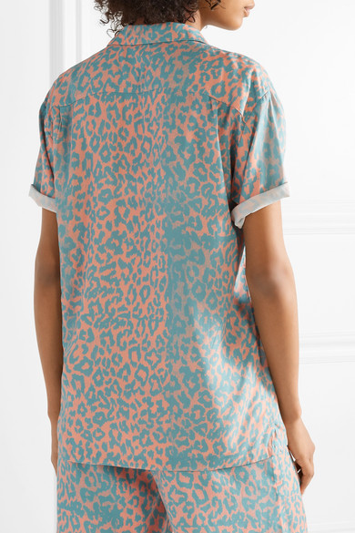 Double Rainbouu Hemd aus Popeline mit Leopardenprint