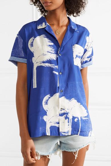 Double Rainbouu Bedrucktes Hemd aus Popeline