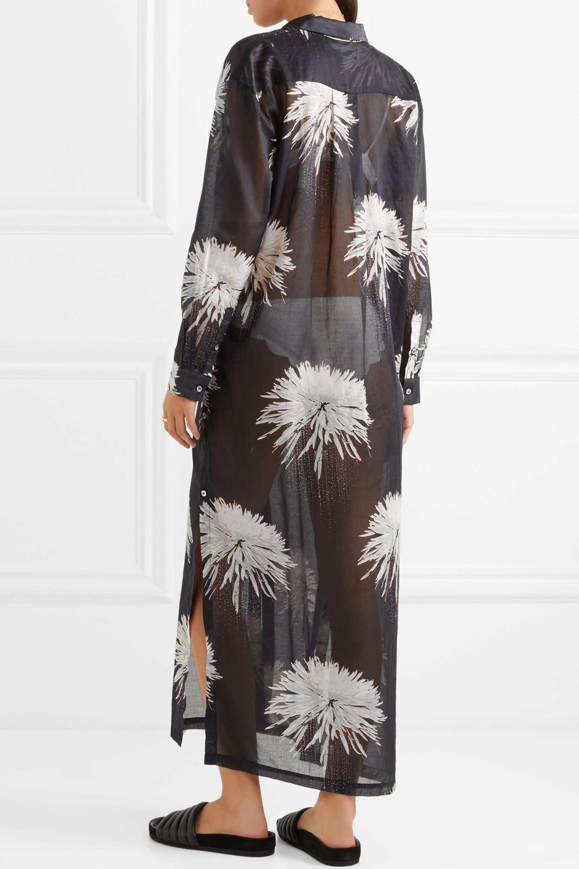 Double Rainbouu Printed cotton-voile maxi dress