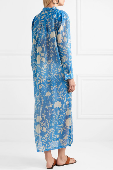 Double Rainbouu Bedrucktes Hemdblusenkleid aus Baumwolle