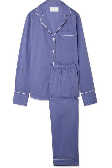 Three J NYC - Moss Cotton-poplin Pajama Set - Blue
