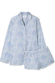 Josephine printed cotton-voile pajama set