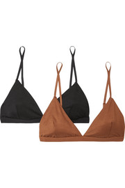 Mississippi set of two stretch-bamboo soft-cup bras