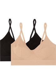 Set of two stretch-bamboo soft-cup bras