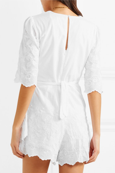 Place Nationale Saint-Hilaire Wickel-Playsuit aus Baumwolle mit Stickerei