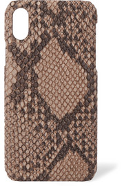 Snake-effect leather iPhone X case