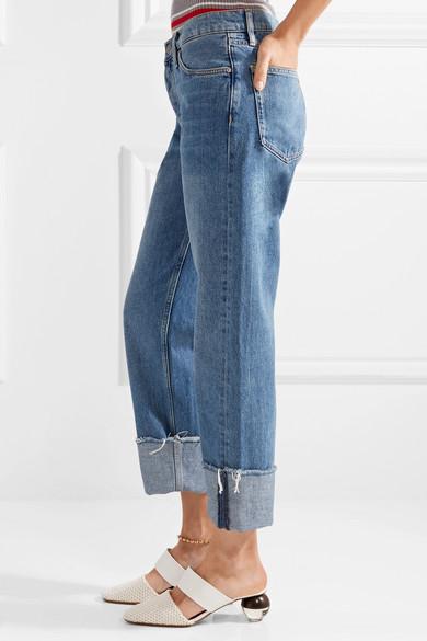 M.i.h Jeans Phoebe ausgefranste Boyfriend-Jeans
