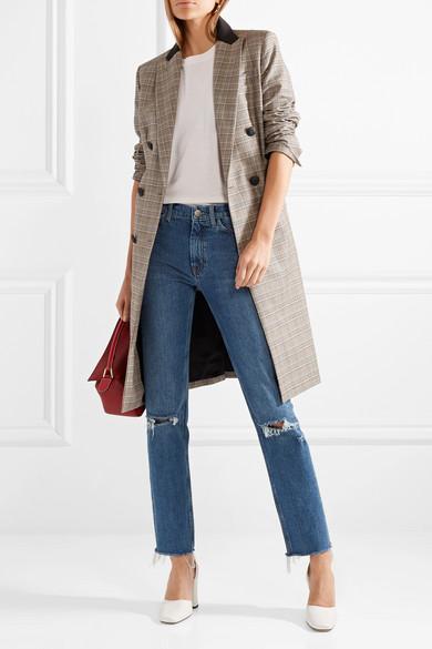 M.i.h Jeans Daily hoch sitzende Jeans mit geradem Bein und Fransen