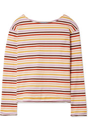 M.i.h Jeans Striped cotton-jersey top