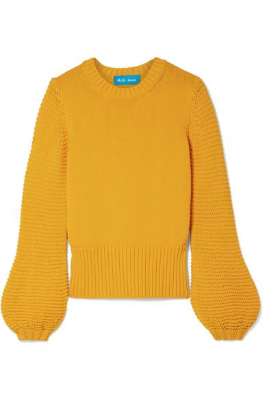 M.i.h Jeans - Lova Cashmere And Wool-blend Sweater - Saffron