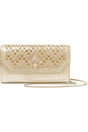 + Nicholas Kirkwood embellished metallic leather shoulder bag