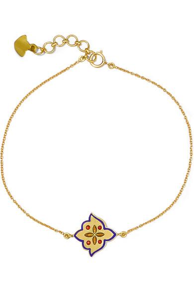 Amrapali 18-karat Gold Enamel Bracelet 9vBcZf