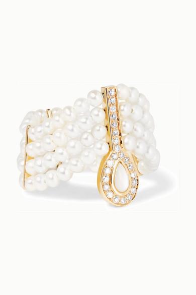 Mignonne 14-karat Gold, Pearl And Diamond Ring - 6 Anissa Kermiche