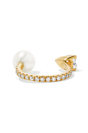 14-karat gold multi-stone ear cuff