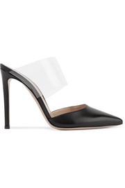 Gianvito Rossi Virtua 100 leather and PVC mules