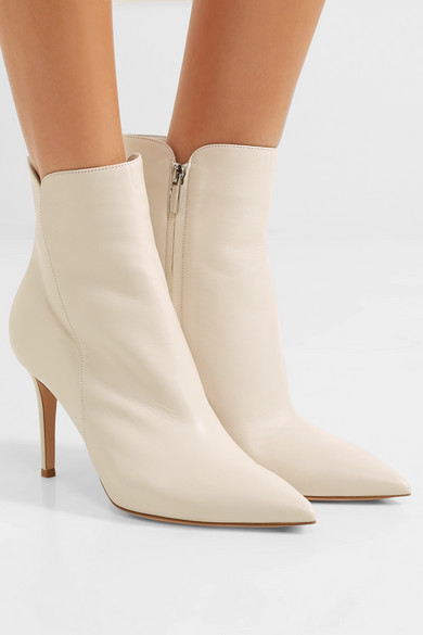 Gianvito Rossi Levy 85 Ankle Boots aus Leder