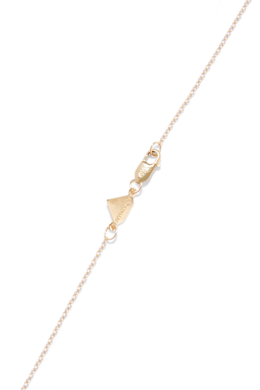 Alison Lou Lovestruck enameled 14-karat gold necklace