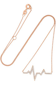 Heartbeat 18-karat rose gold diamond necklace