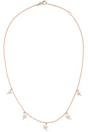 Star 18-karat rose gold diamond necklace