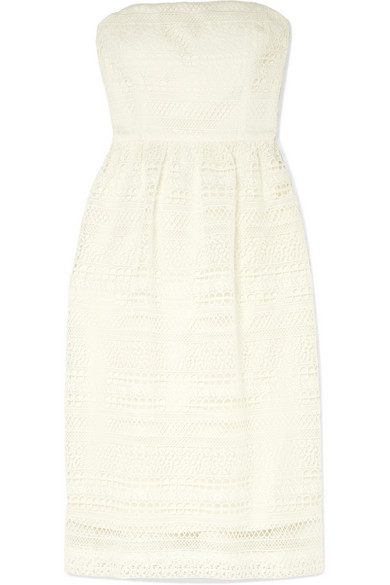 J.Crew - Stanbury Strapless Crocheted Lace Midi Dress - Ivory