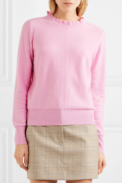 J.Crew Pullover aus einer Baumwollmischung mit Rüschen Erscheinungsdaten Verkauf Online Versand Outlet-Store Online UpGqZ