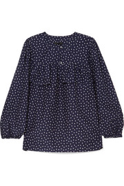 J.Crew Dorito printed cotton and silk-blend voile blouse