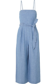 Marseille belted chambray jumpsuit