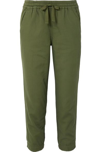 J.Crew - Galicia Cotton-jersey Pants - Army green