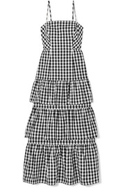 J.Crew Dabble tiered gingham cotton-poplin midi dress