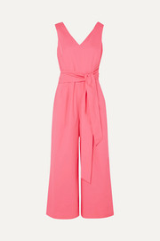 J.Crew Dark Matter belted cotton-blend poplin jumpsuit