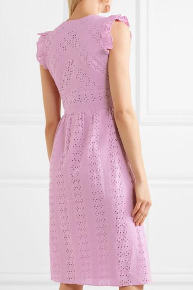 J.Crew Kleid aus Baumwollpopeline mit Lochstickerei