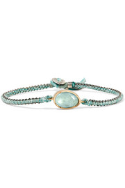 Brooke Gregson Orbit 14-karat gold, sterling silver and aquamarine bracelet