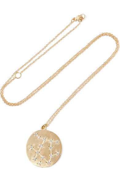 Brooke Gregson Gemini 14-karat Gold Diamond Necklace UkhYp6