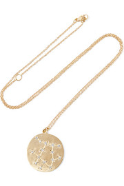 Gemini 14-karat gold diamond necklace