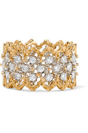 Rombi 18-karat yellow and white gold diamond ring