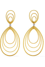 Hawaii Waikiki 18-karat yellow and white gold earrings
