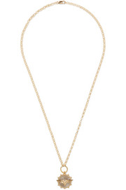 Wings 18-karat gold diamond necklace