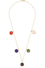18-karat gold, diamond and enamel necklace