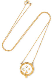 Wholeness 18-karat gold, diamond and enamel necklace